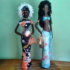 ♥Bonecas Negras de tecido  Página no Facebook : Bicho Preguiça ♥