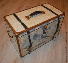 """Сундук большой """"Из дворца"""" - бежевый,сундук,ларец,старинный стиль,для хранения"""