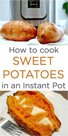 How to Cook Easy Instant Pot Sweet Potatoes How to Cook Easy Instant Pot Sweet Potatoes – quick and easy step-by-step instructions for cooking sweet potatoes in a pressure cooker. via More from my site Instant Pot Chicken Parm Pastta Slow Cooker Recipes, Crockpot Recipes, Healthy Recipes, Cheap Recipes, Healthy Cooking, Pressure Cooker Recipes Vegetarian, Diet Recipes, Sweet Potato Recipes Healthy, Pressure Cooking Recipes