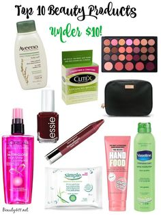 Save money with these top 10 beauty products under $10!