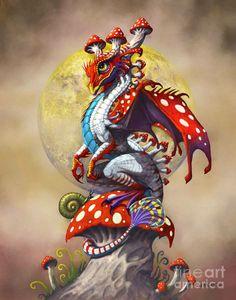 Dragon, mushroom size!