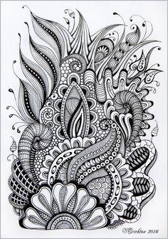 Viktoriya Crichton_Ukraine Nikolaev_Zentangle, graphic, hand-made, pattern, tang... - #CrichtonUkraine #Graphic #handmade #NikolaevZentangle #pattern #tang #Viktoriya
