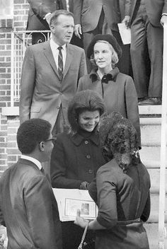 Jackie at Dr. Martin Luther King's funeral, April 1968.  www.facebook.com/pinkpillbox