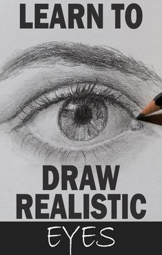 To draw a realistic human eye you must move beyond the symbolic approach of two curves and a circle and understand the skeletal structure that surrounds the eyeball as well as the shapes that eyelids create and how human emotions, gender, and ethnicity affect the eye's appearance. Portrait drawing, drawing people, illustration portrait, drawing illustrations, how to sketch people, people drawing sketches, how to sketch, how to draw eyes Drawing Drawing, Drawing Skills, Drawing Sketches, Painting & Drawing, Sketching, Sketches Of People, Drawing People, Learn To Paint, Learn To Draw