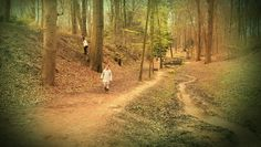Daughters in the woods.
