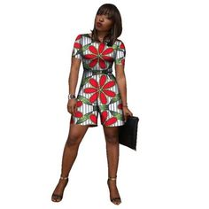 African Wax Print Women Clothing Short Jumpsuit Dashiki Fashion Short Sleeve Short Outfits, Short Dresses, Dresses For Work, Short Jumpsuits For Women, Ankara Jumpsuit, African Traditional Dresses, Dashiki, African Fashion Dresses, Clothes For Women
