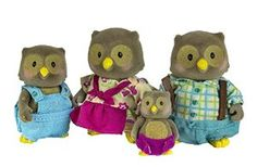 Amazon.com: Li'l Woodzeez Whooswhoo Owl Family 4-Piece Bedtime Set with Storybook: Toys & Games