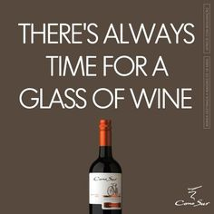 There's always time for a glass of wine. Cono Sur.