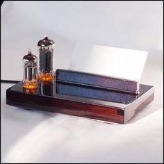 Elektronkový vizitkovník - Vizitka a plamínek