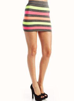 colorblock striped mini skirt $18.40