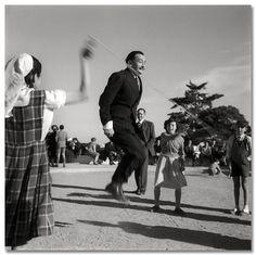 Salvador Dali, Guell Park - Barcelona (1953)  by Francesc Català-Roca