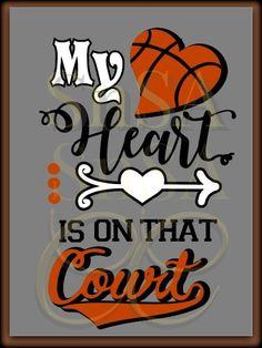 SVG Heart Court Basketball Ball Team Mom Dad by SHAREnShareALIKE