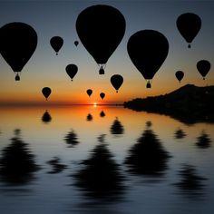Fancy - Hot air balloon sunset