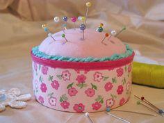 tuna can #pincushion #tutorial #DIY #crafts
