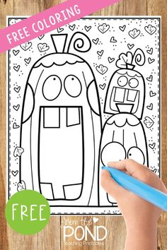 Pumpkin Coloring Page - Classroom Crafts, Classroom Fun, Kindergarten Classroom, Halloween Activities, Holiday Activities, Preschool Activities, Pumpkin Coloring Pages, Halloween Coloring, School Holidays