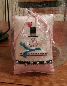Cross stitch lizzie kate ornament