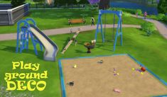 leanderbelgraves:  Playground DECO Set5 Deco Objects for your Playground(requested by Simtress)use Terrain Paint for the Sand in the Sandbox!DOWNLOAD at Mega
