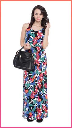 Buy Strappy Tropical Print Maxi Dress Online | maxi dresses online | AvirateFashion.in #maxidresses #fashion #style #womenfashions #printedmaxidress #onlineshopping #shopnow #buynow #maxidressesonline #aviratefashion Womens Fashion Online, Dress Online, Maxi Dresses, Sarees, Tropical, Maxi Gowns, Tank Maxi Dresses, Maxi Skirts