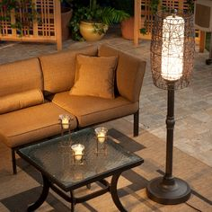 Bristol Outdoor Patio Floor Lamp - Bring a touch of indoor comfort to your outdoor seating area with the Bristol Outdoor Patio Floor Lamp. Using a 100 watt light bulb inside the opal cylinder,...