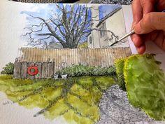 Urban Sketchers: March Afternoon Shadows