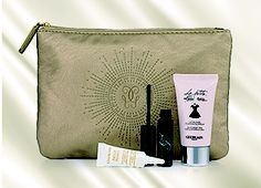 GUERLAIN - Receive a Complimentary Pouch containing five travel size products wit the purchase of any two Guerlain products, one of which must be a Treatment product to the value of August 2013, Travel Size Products, Michael Kors Jet Set, Free Gifts, Theatre, Pouch, Bags, Beauty, Handbags