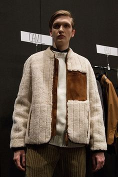 Fendi AW15 Mens Milan Cream Wool Panelled Jacket