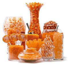 Orange Candy Buffet by Candy Warehouse