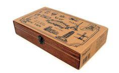 """Making Memories"" wooden boxed stamp set"
