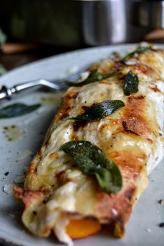 Pumpkin Crespelle with Ricotta and Sage ° eat in my kitchen Entree Recipes, Vegetarian Recipes, Crespelle Recipe, Great Recipes, Favorite Recipes, Mother Recipe, Pumpkin Recipes, Thanksgiving Recipes, Food Inspiration