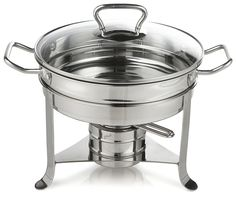 Gourmet Standard 3 Quart Stainless Steel Chafing Dish with Glass Lid - CD11012 ** For more information, visit now : Specialty Cookware