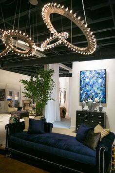 For your next event, surround yourself and your guests with beautiful furnishings (@ErinnVStyle Wedgewood #Sofa), custom #lighting (@NickAlain), original #art, and impeccable service at #WynwoodLab. http://wynwoodlab.com/brands/