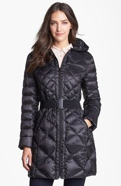 Bernardo Packable Goose Down Quilted Walker Coat (Regular & Petite) available at #Nordstrom