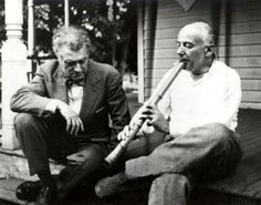 Composer Henry Cowell plays some shak for Frank Zappa's favorite composer Edgar Varese.