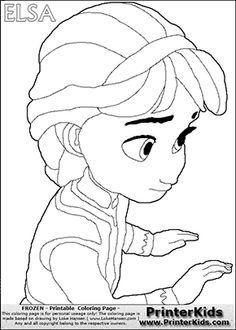 frozen young elsa coloring pages - photo#9