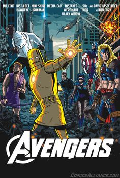 Comics Alliancemade thisAvengersposter featuring all the characters in their worst costumes in history. Following the success of the movie it's easy to picture the team in their movieverse attire - especially since it's inspired by the most recognizable components of their comic book costumes. Not every outfit donned by Earth's Mightiest heroes fits into that design equation, however… in fact, some of their costumes from over the decades might be outright unrecognizable to casual…