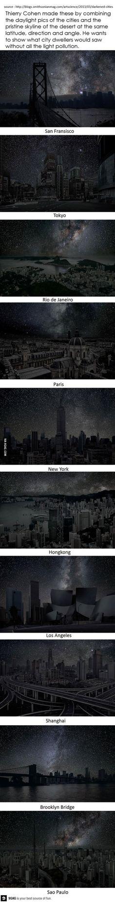 Cities pure night skyline