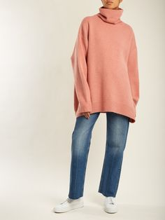 Displaced-sleeve roll-neck wool sweater | Raey | MATCHESFASHION.COM US