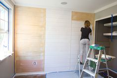 Jenna Sue: New Master: Paint, Trim & Plank Wall