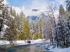 Title:  Half Dome And The Merced River  Artist:  Bill Gallagher