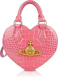 Vivienne Westwood Pink Rosa Chancery Heart Bag