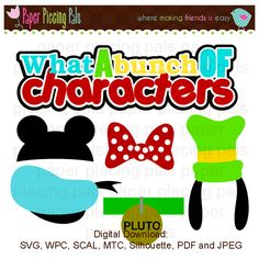 SVG cut file. Disney, Mickey Mouse, Minnie Mouse, Goofy and Donald