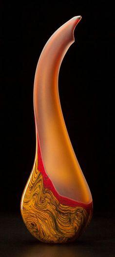 Art glass sculpture Tall Montara