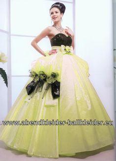 Blumen Kleid Abendkleid Ballkleid Brautkleid in Beige Schwarz