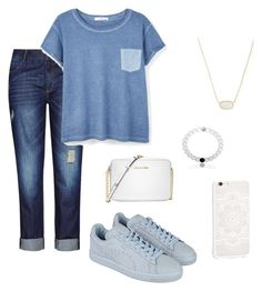 """""""Casual day at school"""" by camimanriquez on Polyvore featuring City Chic, MANGO, Puma, Michael Kors and Kendra Scott"""