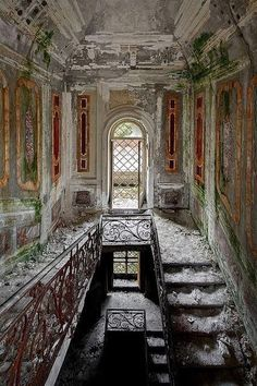 architectural ruins staircase