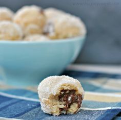 Nutella Stuffed Donut Holes - Shugary Sweets