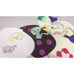 """【アプリ投稿】【まあるいたまご ペープサート】・画用紙・針と糸・…   みんなのタネ   保育や子育てが広がる""""遊び""""と""""学び""""のプラットフォーム[ほいくる] Paper Puppets, Theater, Kids Rugs, Decor, Decoration, Kid Friendly Rugs, Paper Dolls, Theatres, Decorating"""