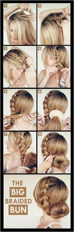 Braided Updo Hairstyles Tutorials: Side Big Braid Bun