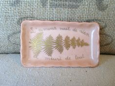 Vintage Paris Calling Card Porcelain Tray by edithandevelyn on Etsy