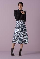 Miniver Zebra Jacquard Skirt